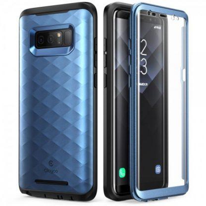 Husa Supcase 360 Grade Clayco Hera Samsung Note 8 Blue Antisoc