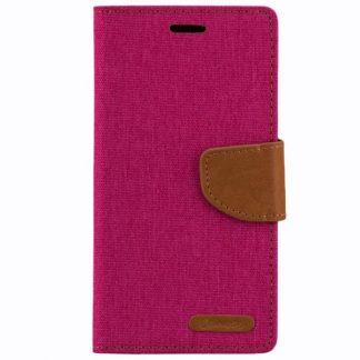 Husa Canvas Tip Carte Pentru Samsung J5 2017 Roz