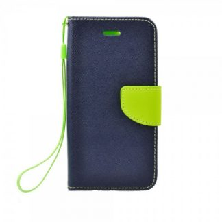 Husa Flip Carte Fancy Book iPhone 5S/5SE Blue Lime