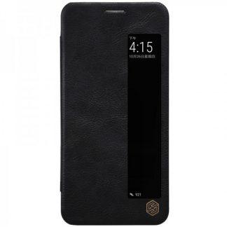 Husa Huawei P20 Nillkin Qin Flip Cover Smart View Piele Black