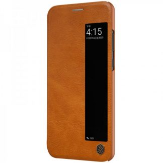 Husa Huawei P20 Nillkin Qin Flip Cover Smart View Piele Brown