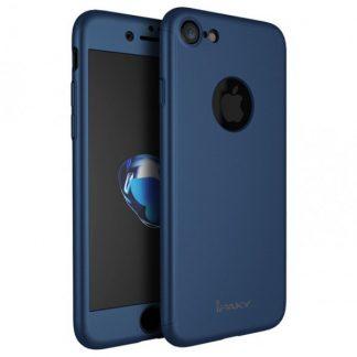 Husa Ipaky 360 Grade Ultra Slim iPhone 8 Albastra Folie Sticla Inclusa