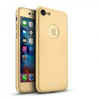 Husa Ipaky 360 Grade Ultra Slim iPhone 8 Gold Folie Sticla Inclusa