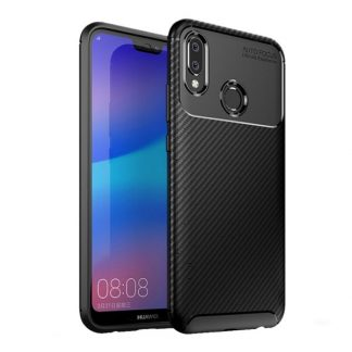 Husa Premium Rugged Carbon New Auto Focus Huawei P20 Lite Negru