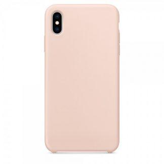 Husa Silicon Apple Style Fara Logo iPhone XS Max Interior Alcantara Pink