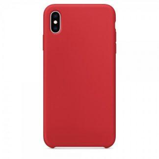 Husa Silicon Apple Style Fara Logo iPhone XS Max Interior Alcantara Red