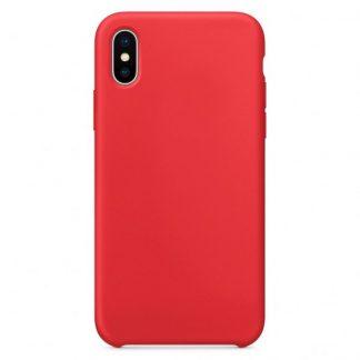 Husa Silicon Apple Style Fara Logo iPhone X/XS Interior Alcantara Red