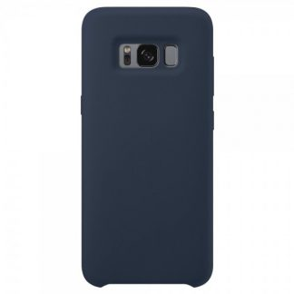 Husa Silicon Samsung S8+ Plus Interior Alcantara Dark Blue