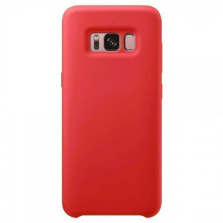 Husa Silicon Samsung S8+ Plus Interior Alcantara Red