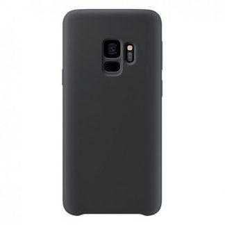 Husa Silicon Samsung S9 Interior Alcantara Black