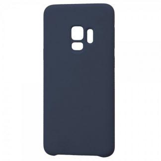 Husa Silicon Samsung S9 Interior Alcantara Dark Blue