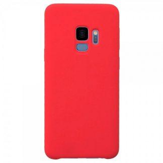 Husa Silicon Samsung S9 Interior Alcantara Red