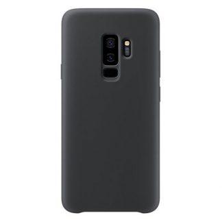 Husa Silicon Samsung S9+ Plus Interior Alcantara Negru