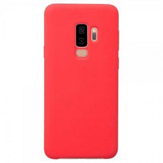Husa Silicon Samsung S9+ Plus Interior Alcantara Red