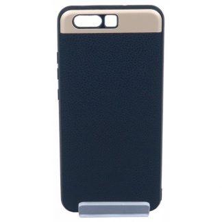 Husa Spate Hybrid Leather Mixon Huawei P10 Negru Gold