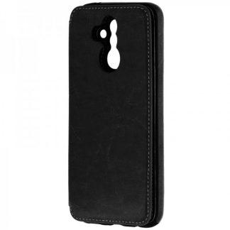 Husa Spate Premium Leather Wallet Huawei Mate 20 lite Negru cu Functie De Portofel