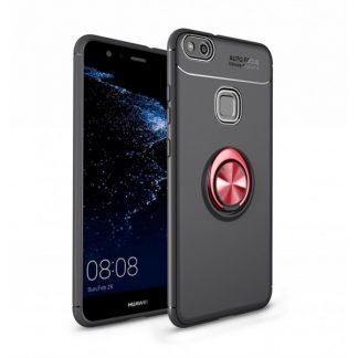 Husa Spate Silicon Premium Iring Metalic Mixon Huawei P10 Lite Cu Ring Metalic Pe Spate Negru-red