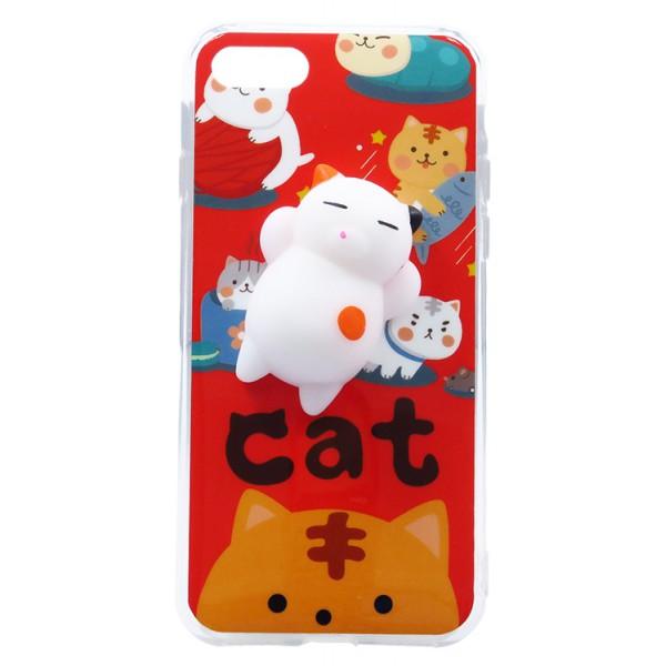 Husa Spate Squishy 3d Cu Jucarie Anti-stres iPhone 7/8 Model 3