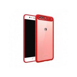 Husa Spate Usams Mant Huawei P10 Rosu Transparent
