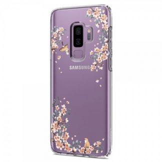 Husa Spigen Liquid Crystal Samsung S9+ Plus Blossom Nature Transparenta
