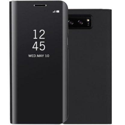 Husa Tip Carte Mirror Samsung Galaxy Note 8 Negru