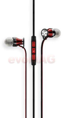 Casti Stereo Sennheiser MOMENTUM In-Ear (Negru/Rosu)