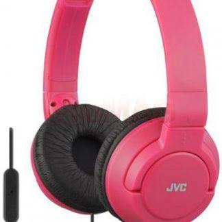 Casti Stereo JVC HA-SR185-R, Jack 3.5mm, Microfon (Rosu)