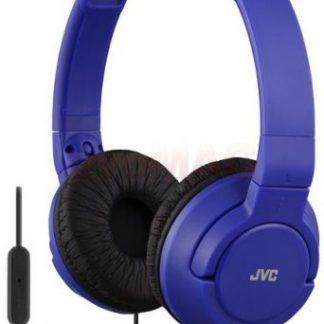Casti Stereo JVC HA-SR185-A, Jack 3.5mm, Microfon (Albastru)