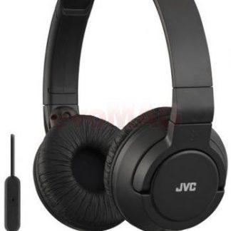 Casti Stereo JVC HA-SR185-B, Jack 3.5mm, Microfon (Negru)