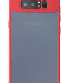 Protectie Spate Just Must Pure Light Red Frame JMPLN8RD, pentru Samsung Galaxy Note 8 (Transparent/Rosu)