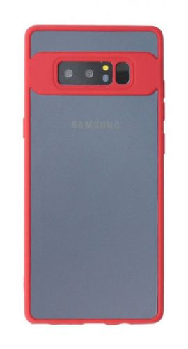 Protectie Spate Just Must Pure Light Red Frame JMPLN8RD, pentru Samsung Galaxy Note 8 (Transparent/Rosu)