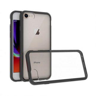 Protectie Spate Just Must Pure II JMPR2IPH8BK, pentru iPhone 8 (Transparent/Negru)