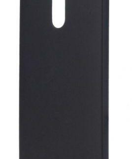 Protectie Spate Lemontti Hard Rubber Slim LEMHRNOK6N, pentru Nokia 6 (Negru)