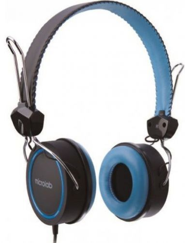 Casti Stereo Microlab K300 (Negru/Albastru)