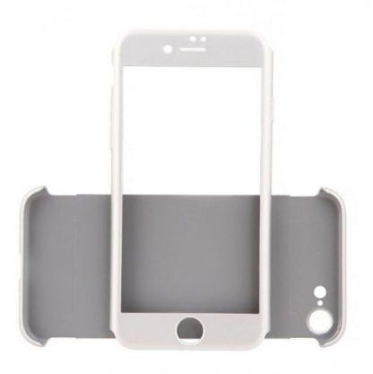 Protectie Spate Just Must Defense 360 JMDEFIPH7SV pentru iPhone 7 + Protectie Fata + Folie Protectie (Argintiu)