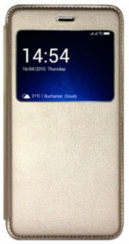 Husa S-View Cover Allview HFgX3S pentru X3 Soul (Auriu)