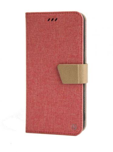 Protectie Book Cover Just Must Linen JMLNIP10LPK pentru Huawei P10 Lite (Roz)