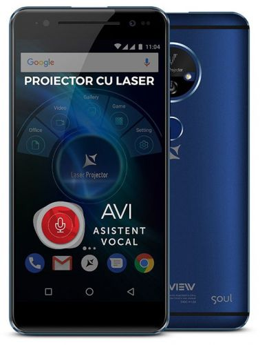 Smartphone Allview X4 Soul Vision, Procesor Octa-core, 1.5GHz, IPS LCD Capacitive touchscreen 5.5inch, 3GB RAM, 32GB FLASH, Camera 13MP, Wi-Fi, 4G, Dual Sim, Android (Albastru)