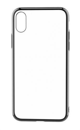 Protectie Spate Devia Glitter Soft DVGLTSFIPHXGB pentru iPhone X (Transparent/Negru)