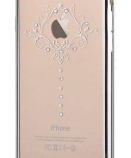 Protectie Spate Devia Iris DVIRSIPH7SV, Cristale Swarovski®, pentru iPhone 7 (Argintiu)