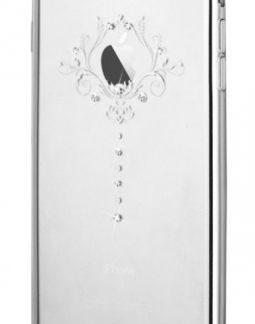 Protectie Spate Devia Iris DVIRSIPH6PSV, Cristale Swarovski®, pentru iPhone 6 Plus (Argintiu)