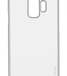 Protectie Spate Devia Glitter Soft DVGLTSFG960SV pentru Samsung Galaxy S9 G960 (Argintiu)