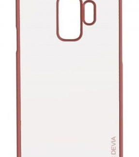 Protectie Spate Devia Glitter Soft DVGLTSFG965RG pentru Samsung Galaxy S9 Plus G965 (Transparent / Roz/Auriu)