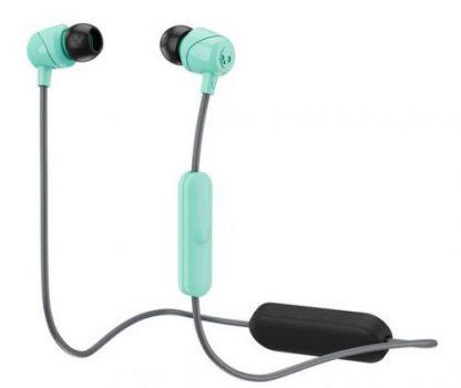 Casti Bluetooth SkullCandy JIB S2DUW-L675, Microfon (Negru/Turcoaz)