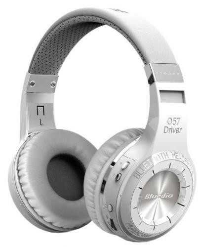 Casti Stereo Bluedio H+, Bluetooth (Alb)