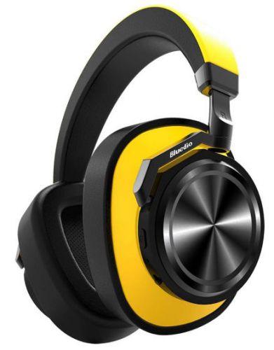 Casti Stereo Bluedio T6, Bluetooth (Negru/Galben)