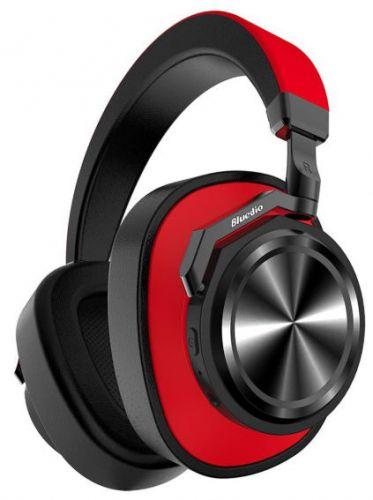 Casti Stereo Bluedio T6, Bluetooth (Negru/Rosu)