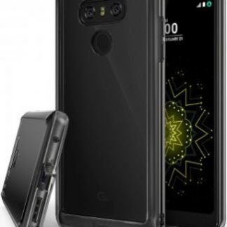 Husa Protectie Spate LG G6 Hybrid Fusion Smoke Ringke 8809525014798 pentru LG G6 (Negru)