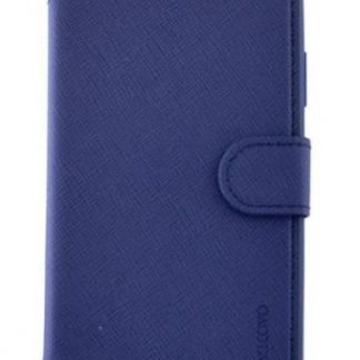 Protectie Book Cover Meleovo Stitchy I MLVST1IPHXNV pentru iPhone X (Albastru)