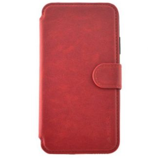Protectie Book Cover Meleovo Stitchy II MLVST2IPHXRD pentru iPhone X (Rosu)